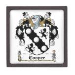 Escudo de la familia del tonelero cajas de joyas de calidad