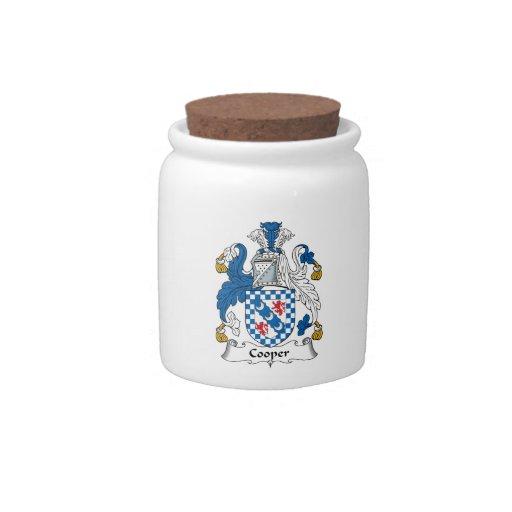 Escudo de la familia del tonelero platos para caramelos