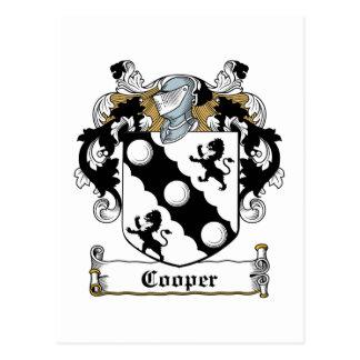 Escudo de la familia del tonelero postales