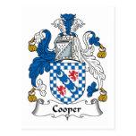 Escudo de la familia del tonelero tarjetas postales