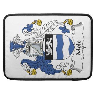 Escudo de la familia del topo fundas macbook pro
