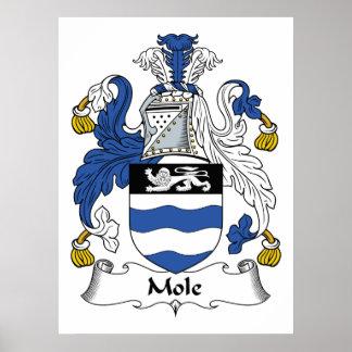 Escudo de la familia del topo impresiones