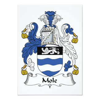 Escudo de la familia del topo invitación personalizada