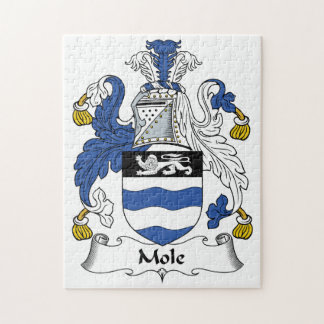 Escudo de la familia del topo puzzle con fotos