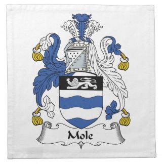 Escudo de la familia del topo servilleta