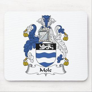 Escudo de la familia del topo tapete de ratón