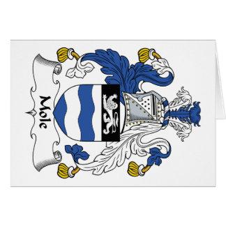 Escudo de la familia del topo tarjeta