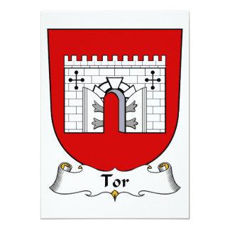 Escudo de la familia del Tor Invitación 12,7 X 17,8 Cm