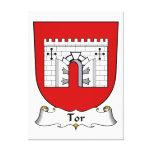 Escudo de la familia del Tor Lienzo Envuelto Para Galerias