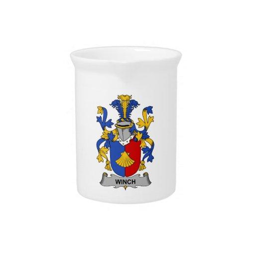 Escudo de la familia del torno jarras para bebida
