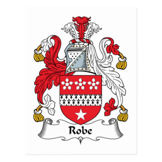 Escudo de la familia del traje tarjeta postal