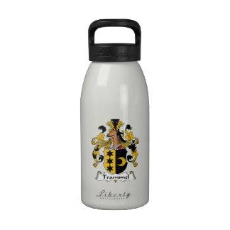 Escudo de la familia del trasmallo botella de agua