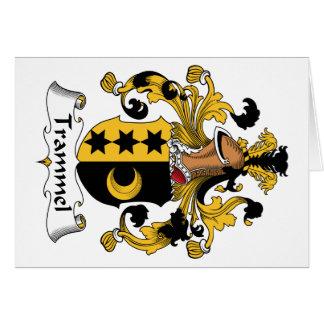 Escudo de la familia del trasmallo tarjeta de felicitación