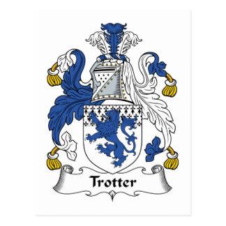Escudo de la familia del trotón postales