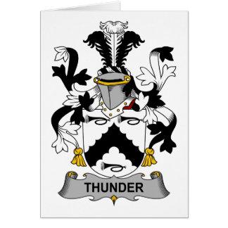 Escudo de la familia del trueno tarjeta de felicitación