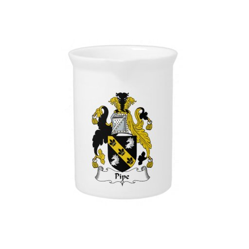 Escudo de la familia del tubo jarras de beber