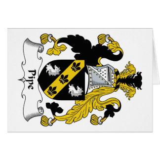 Escudo de la familia del tubo tarjeta de felicitación