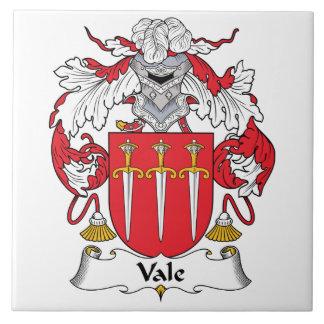 Escudo de la familia del valle azulejo ceramica