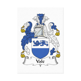 Escudo de la familia del valle impresion de lienzo