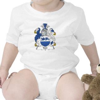 Escudo de la familia del valle trajes de bebé