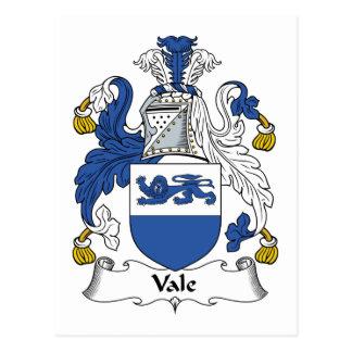 Escudo de la familia del valle postal