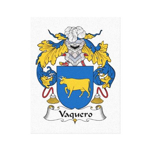 Escudo de la familia del Vaquero Lienzo Envuelto Para Galerías
