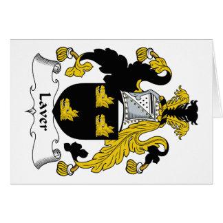 Escudo de la familia del varec tarjeta de felicitación