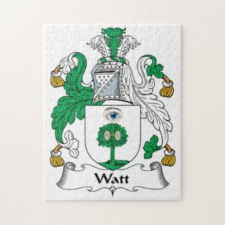 Escudo de la familia del vatio puzzle