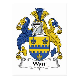 Escudo de la familia del vatio tarjetas postales