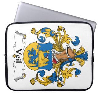 Escudo de la familia del velo funda ordendadores