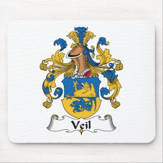 Escudo de la familia del velo mouse pad