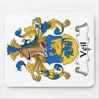 Escudo de la familia del velo mousepad