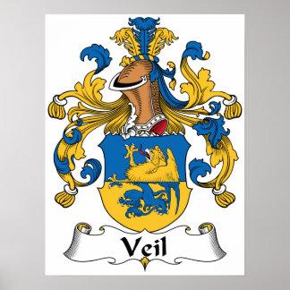 Escudo de la familia del velo póster
