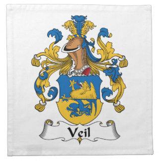 Escudo de la familia del velo servilletas de papel