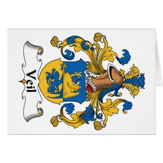 Escudo de la familia del velo tarjeta de felicitación