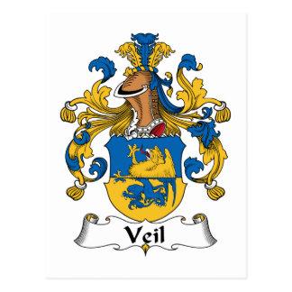 Escudo de la familia del velo tarjetas postales