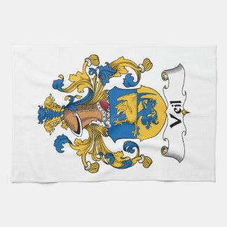 Escudo de la familia del velo toalla de cocina