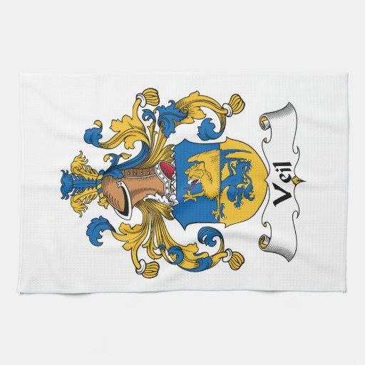 Escudo de la familia del velo toallas