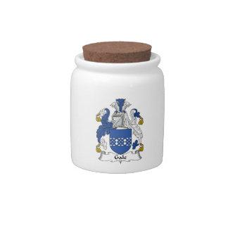 Escudo de la familia del vendaval jarras para caramelos