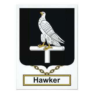 Escudo de la familia del vendedor ambulante invitación personalizada