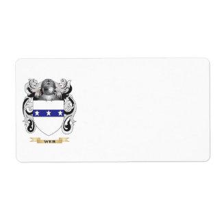 Escudo de la familia del vertedero (escudo de arma etiqueta de envío