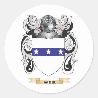 Escudo de la familia del vertedero (escudo de pegatina redonda