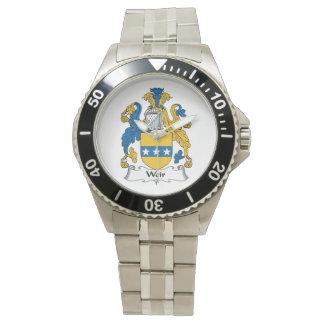 Escudo de la familia del vertedero relojes