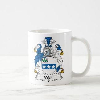 Escudo de la familia del vertedero tazas de café