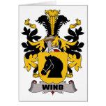 Escudo de la familia del viento tarjeta