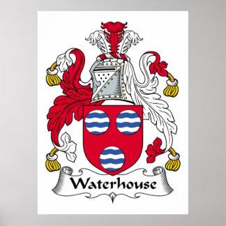 Escudo de la familia del Waterhouse Póster
