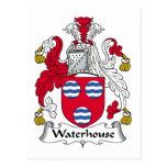 Escudo de la familia del Waterhouse Tarjeta Postal