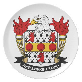 Escudo de la familia del Wheelwright Platos