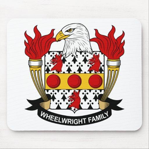 Escudo de la familia del Wheelwright Alfombrillas De Ratones