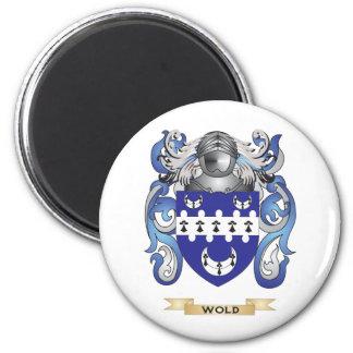 Escudo de la familia del Wold escudo de armas Imán De Frigorífico